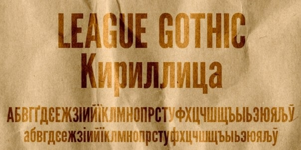 Download League Gothic font (typeface)
