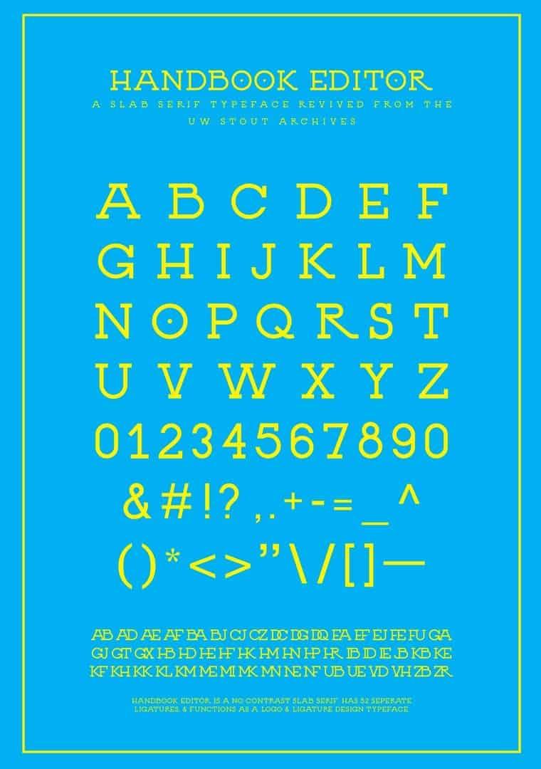 Download Handbook Editor font (typeface)