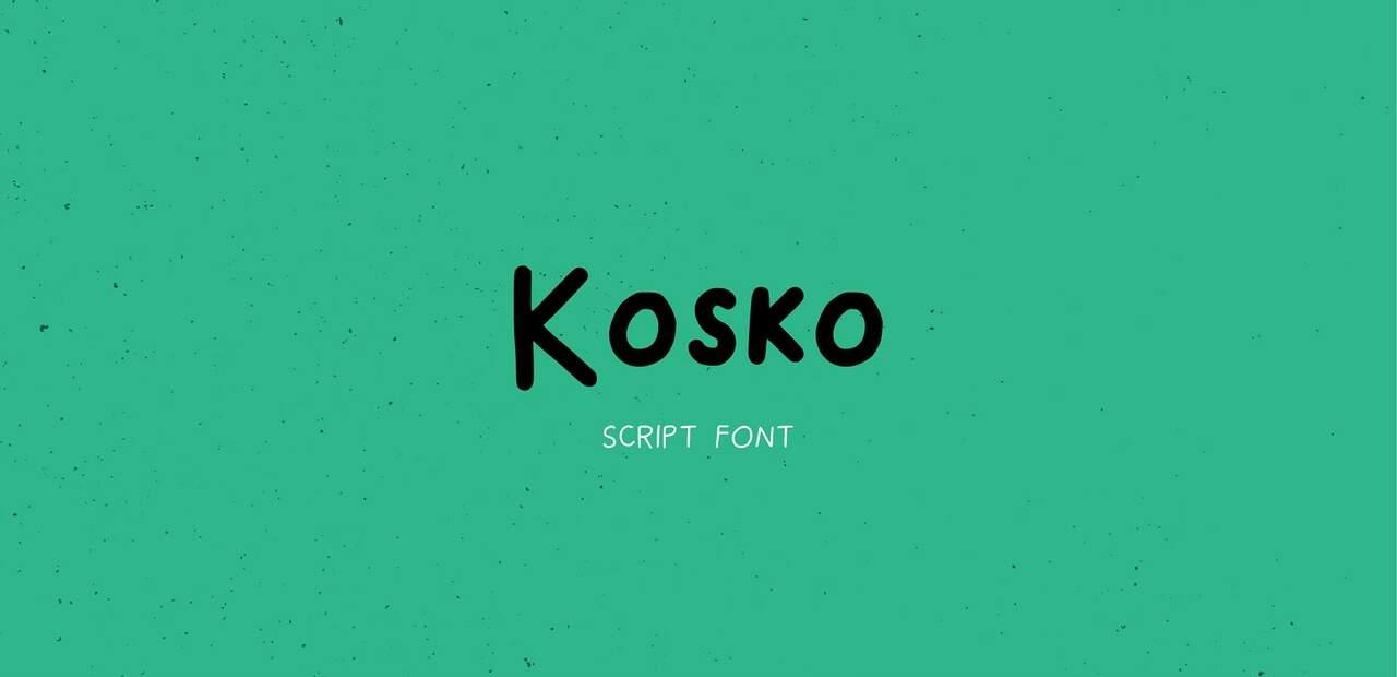Download kosko font (typeface)