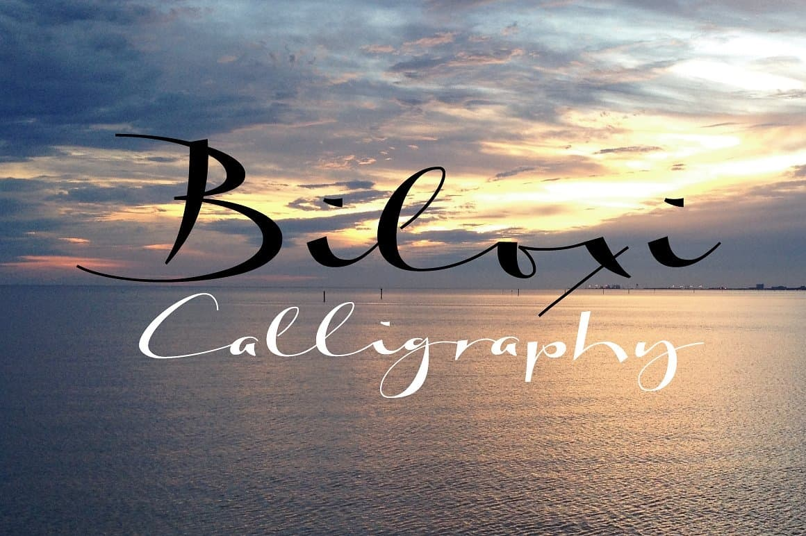 Download Biloxi calligraphy font (typeface)