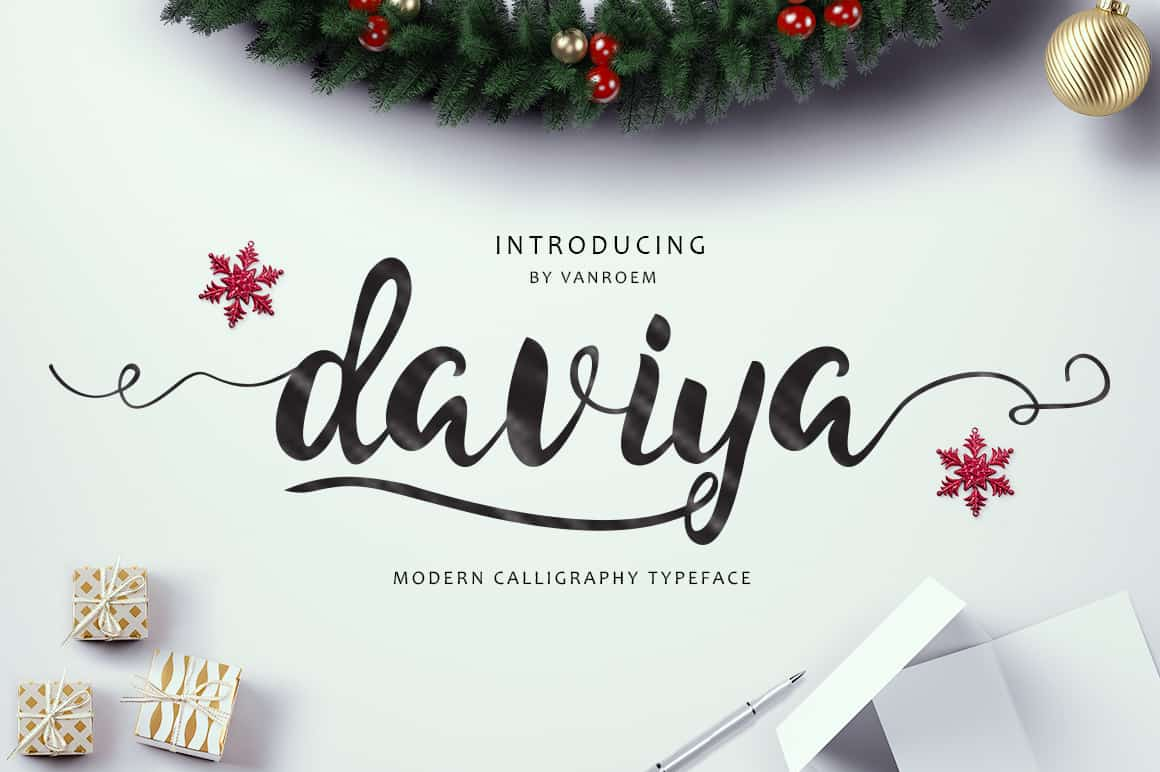 Download Daviya Script font (typeface)