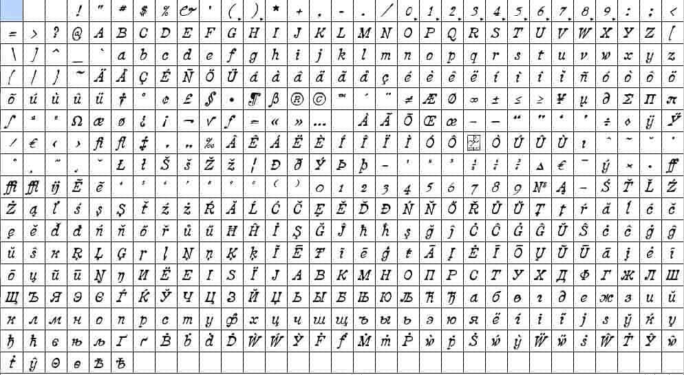 Download 2010 Pipo Pro Set OTF font (typeface)
