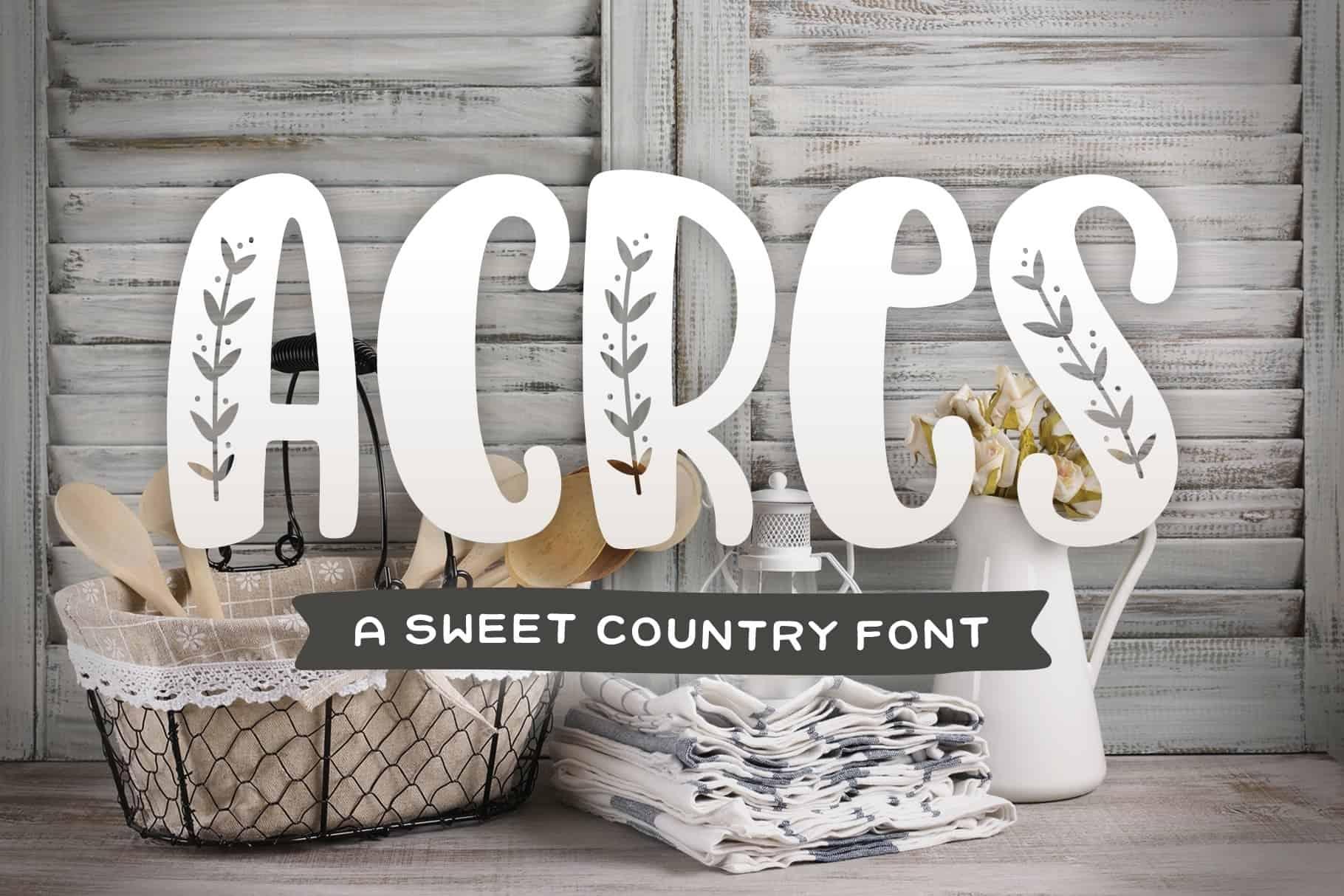 Download Acres font (typeface)