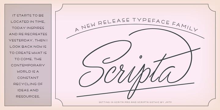 Download Scripta Pro font (typeface)