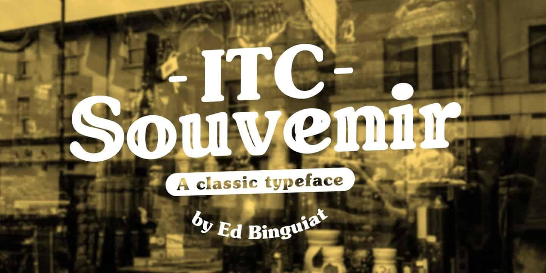 Download Souvenir font (typeface)
