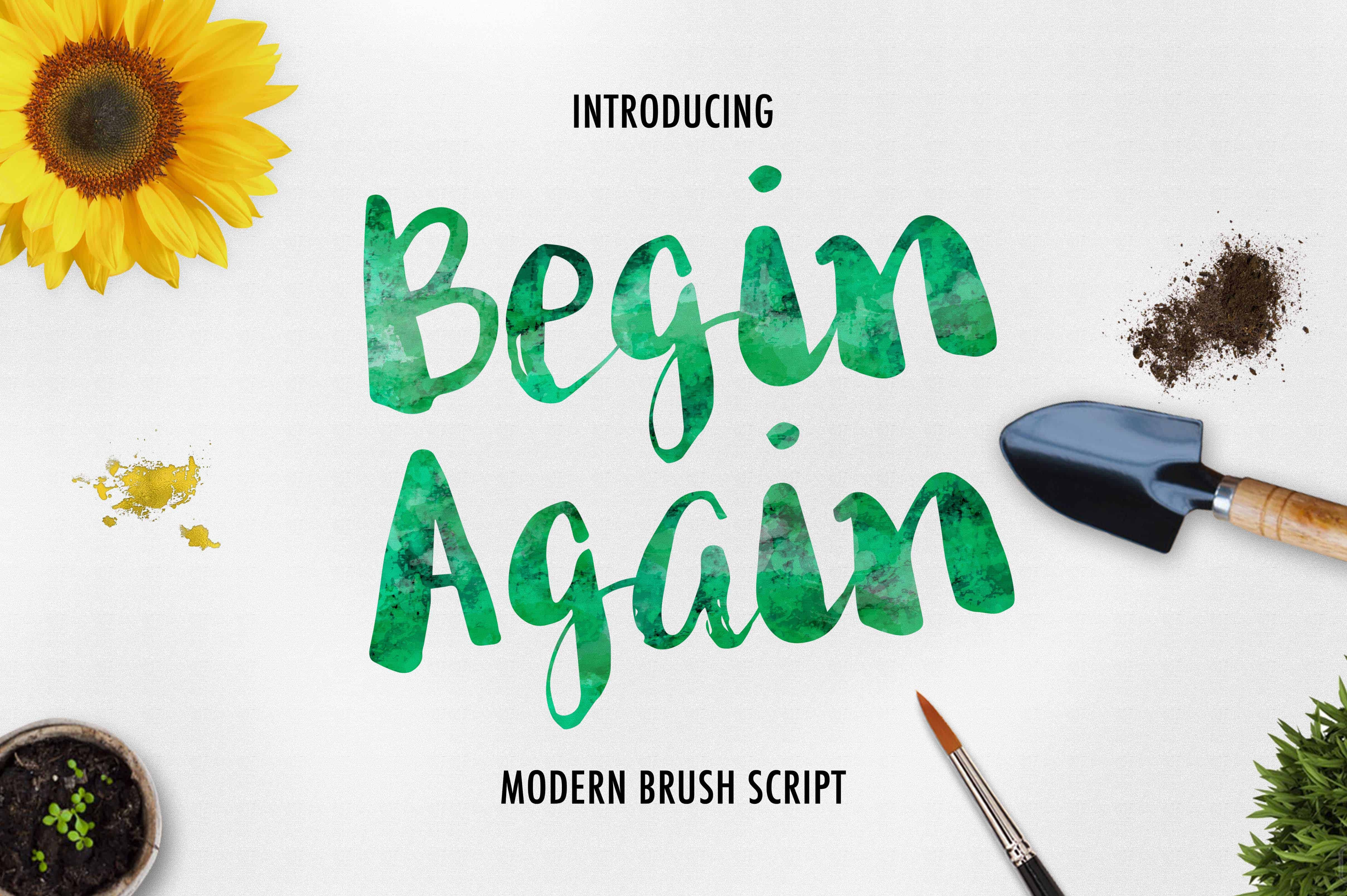 Download Begin Again Brush Typeface font (typeface)