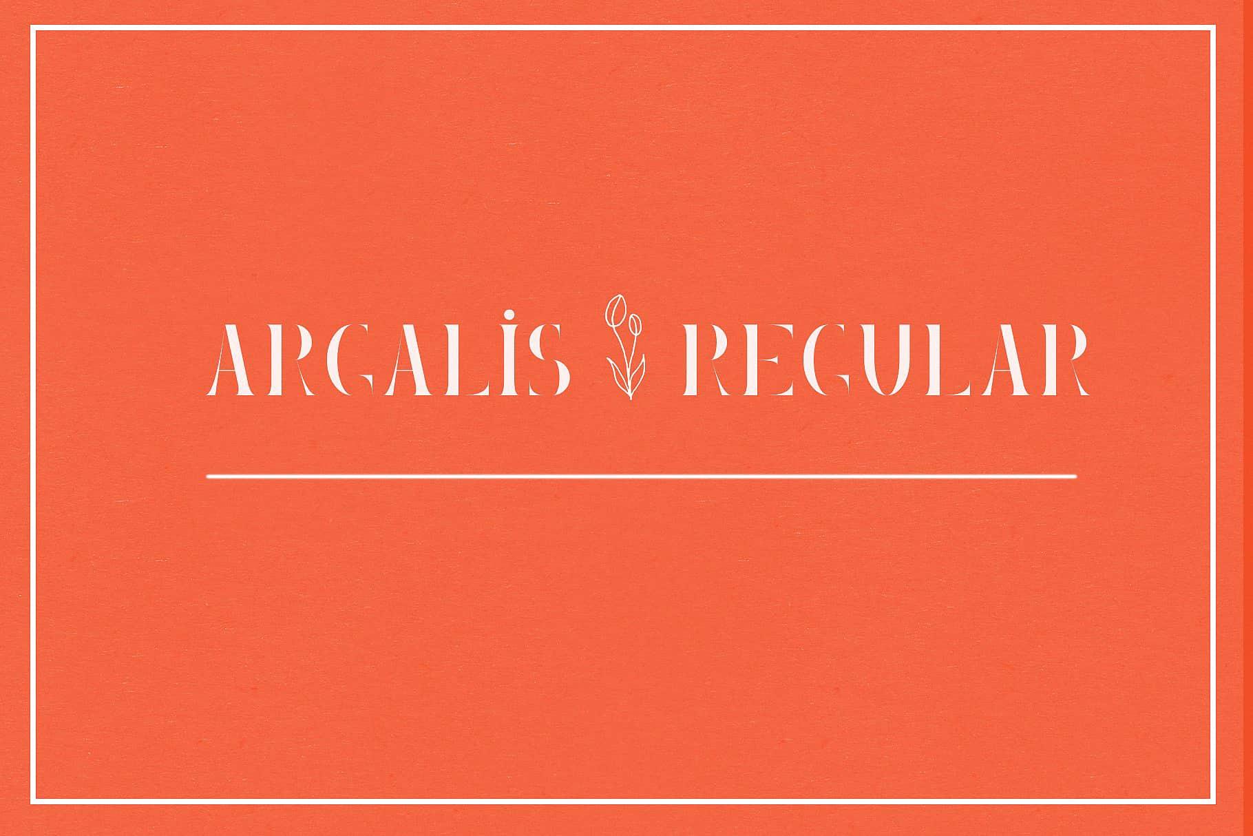 Download Argalis Regular font (typeface)
