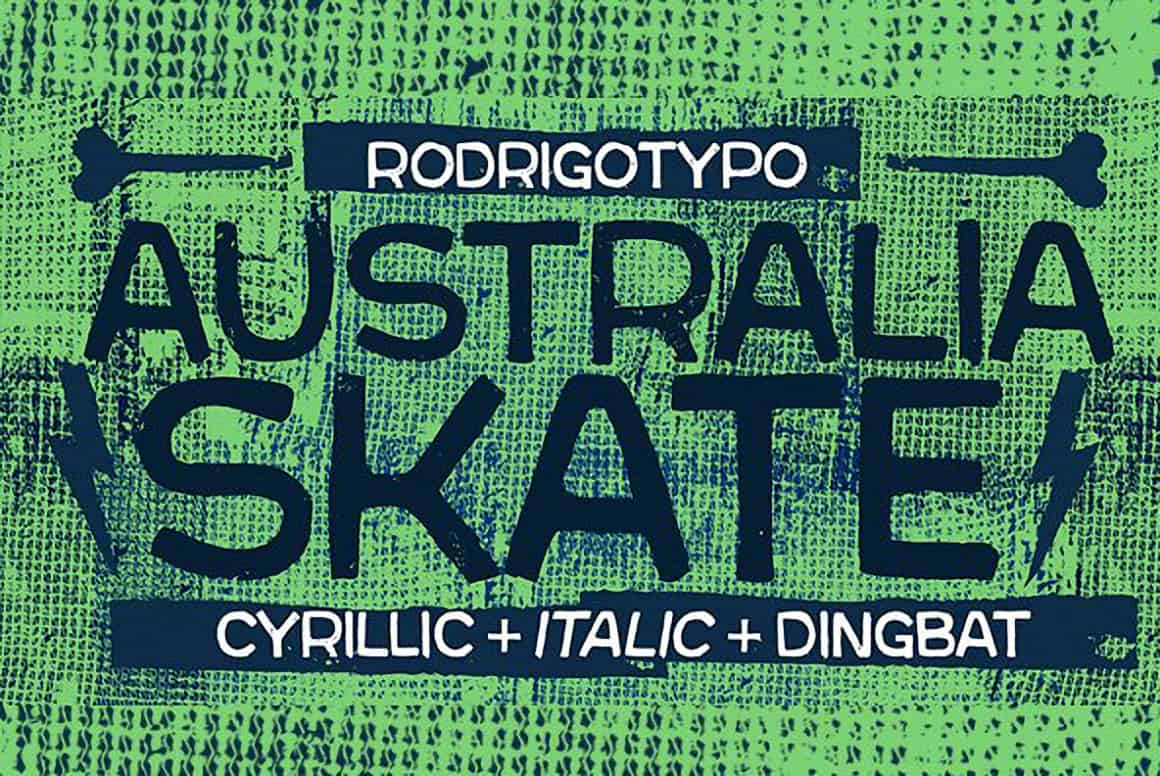 Download Australia Skate font (typeface)