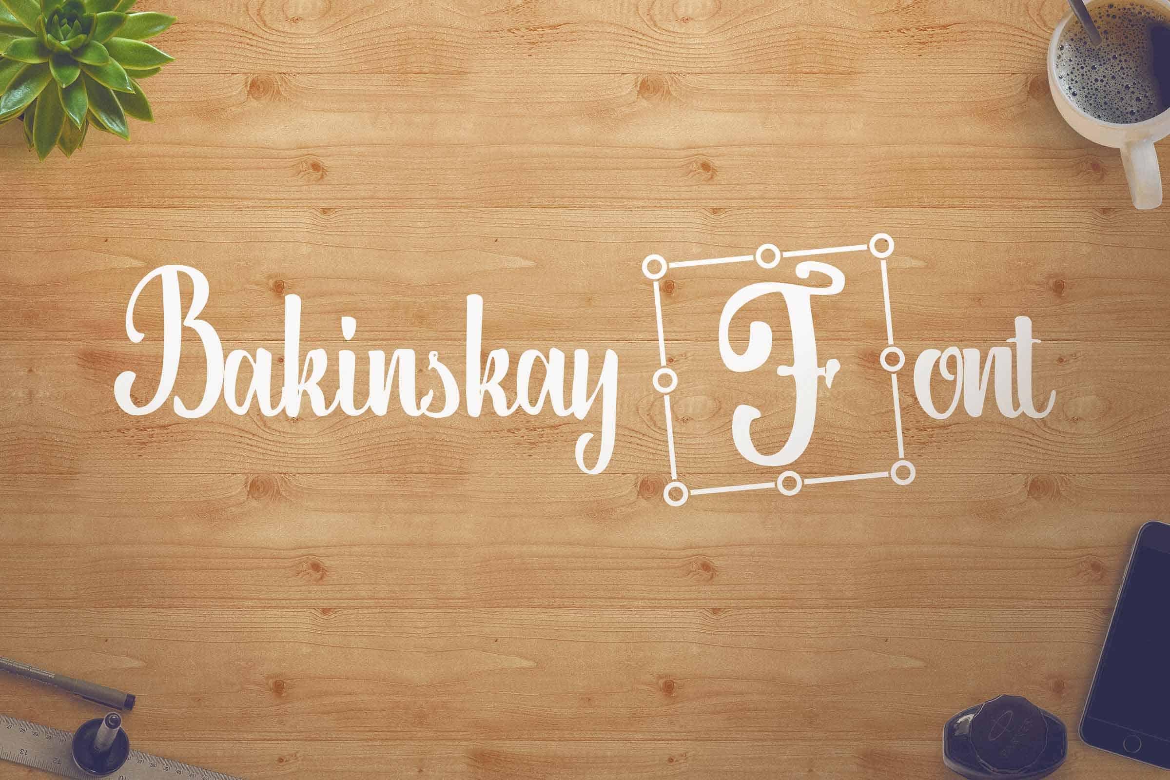 Download Bakinskay font (typeface)