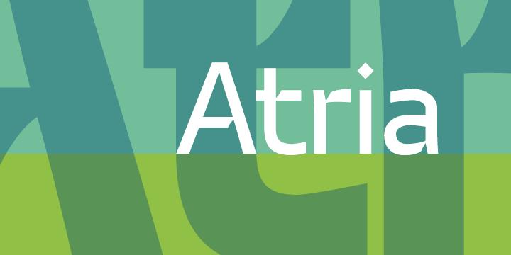Download Atria font (typeface)