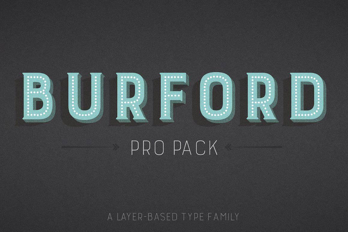 Download Burford Pro Pack font (typeface)