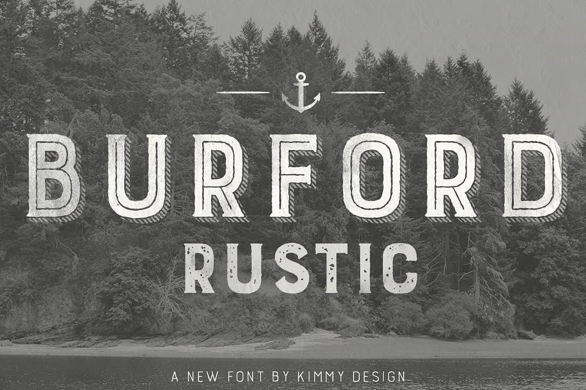 Download Burford Rustic Pro font (typeface)