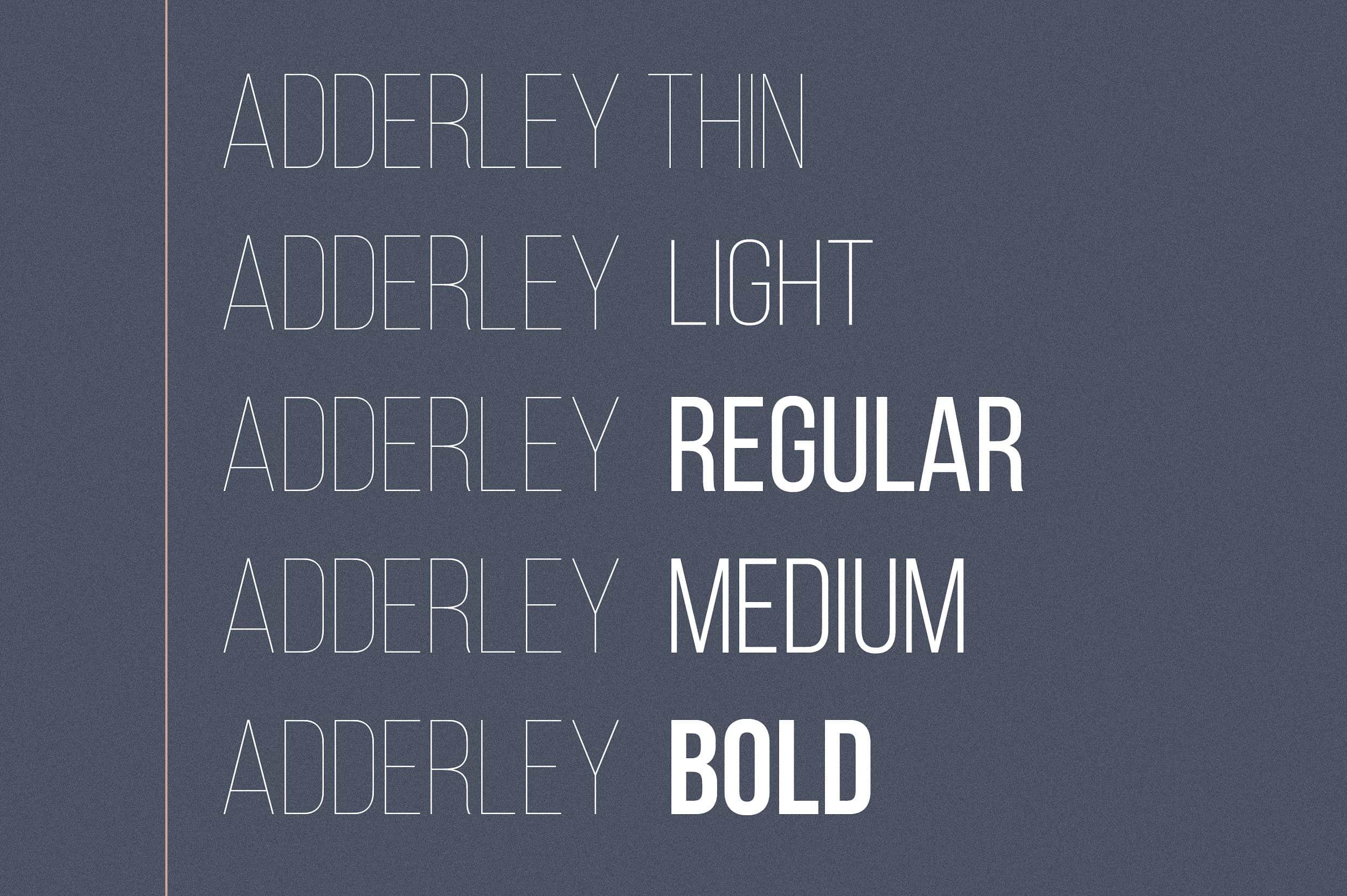 Download Adderley font (typeface)
