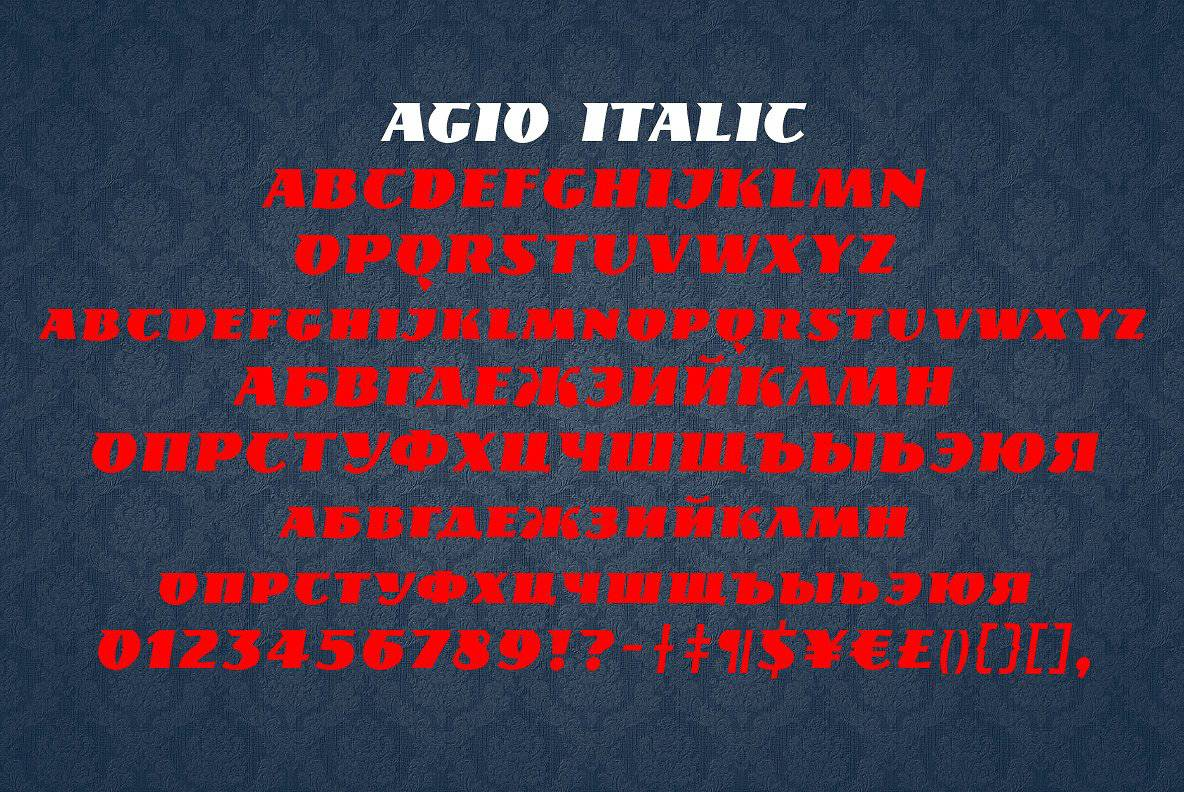 Download Agio font (typeface)