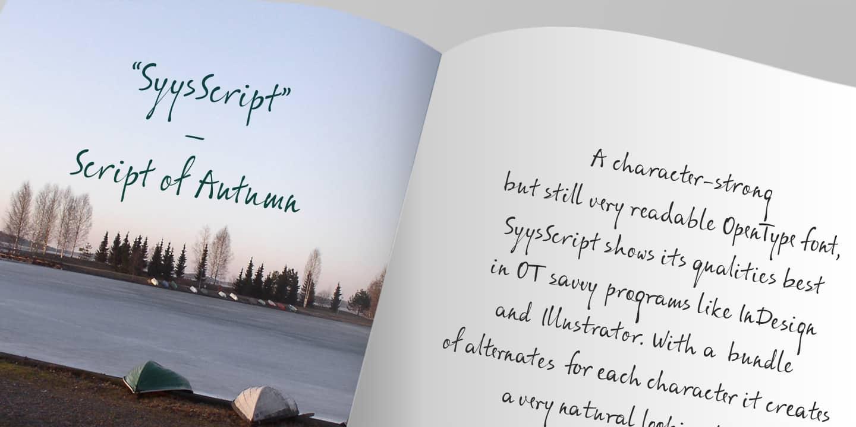 Download ALS Syys Script font (typeface)