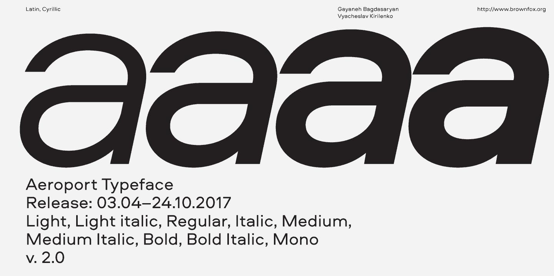 Download Aeroport font (typeface)