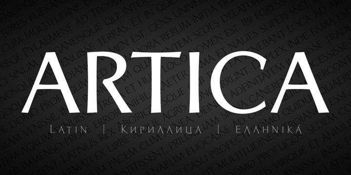 Download Artica Pro font (typeface)