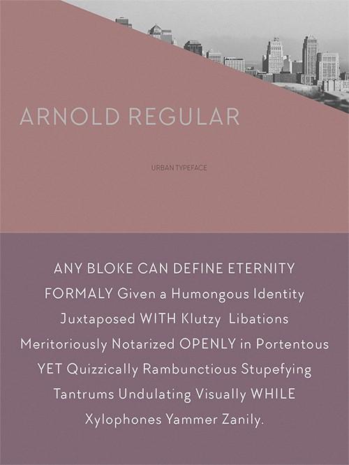 Download ARNOLD REGULAR font (typeface)