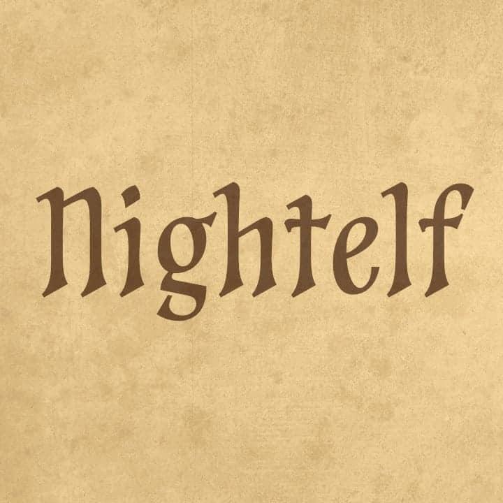 Download Nightelf font (typeface)