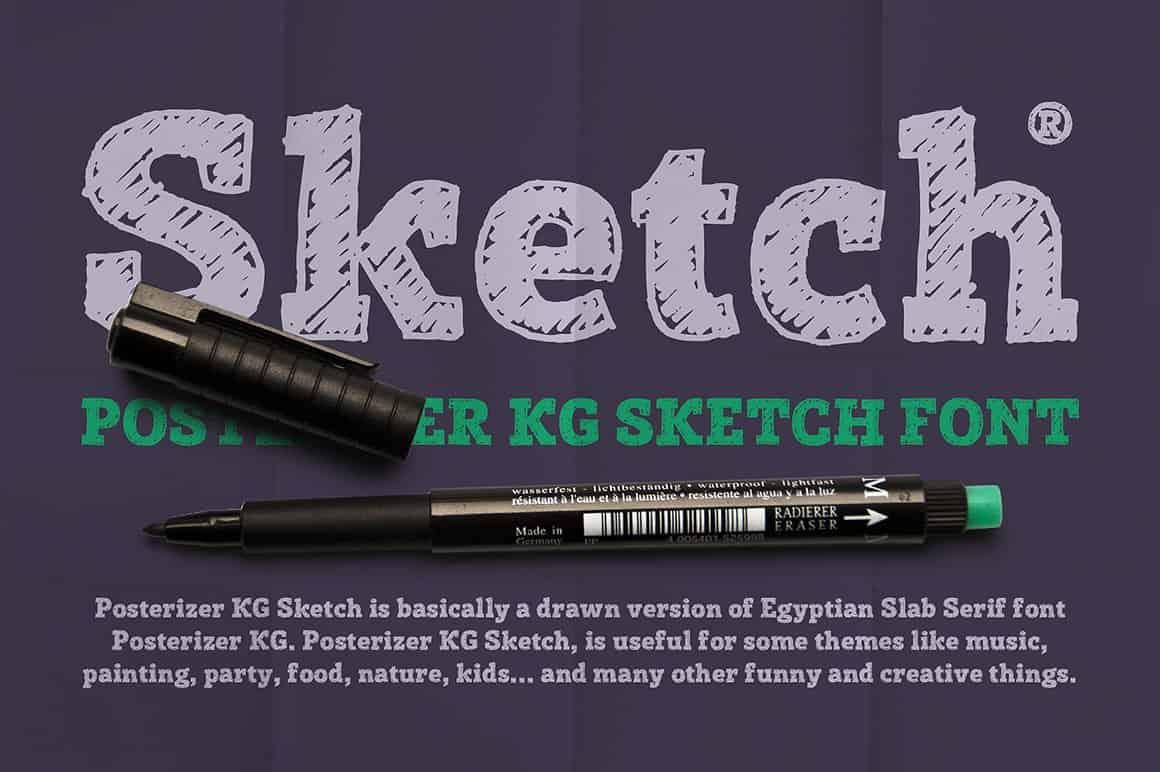 Download Posterizer KG Sketch font (typeface)