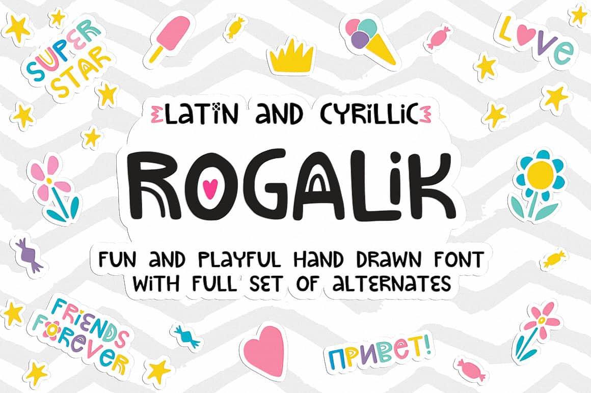 Download Rogalik Hand Lettered font (typeface)