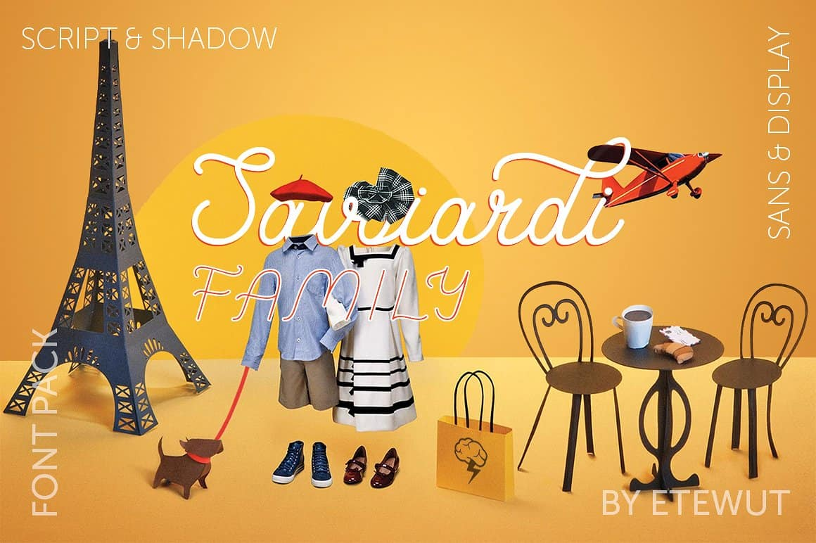 Download Savoiardi family font (typeface)