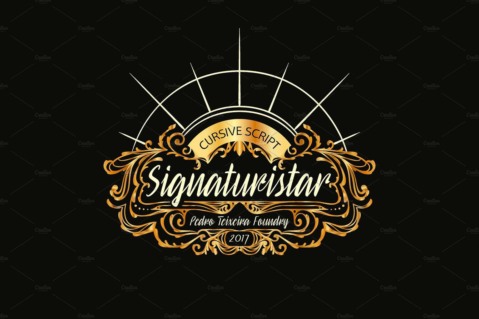 Download Signaturistar font (typeface)