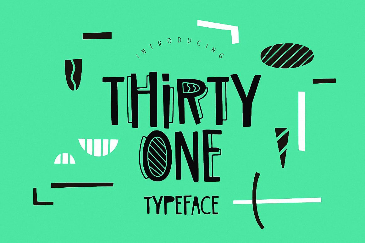 Download Thirty One Typeface font (typeface)