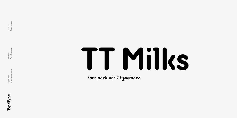 Download TT Milks font (typeface)