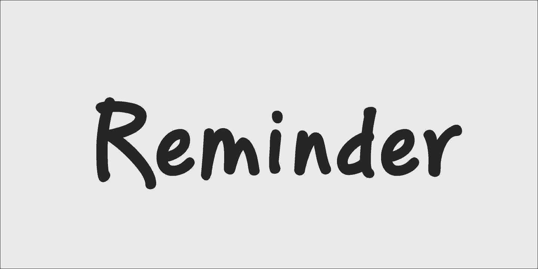 Download PF Reminder Pro font (typeface)