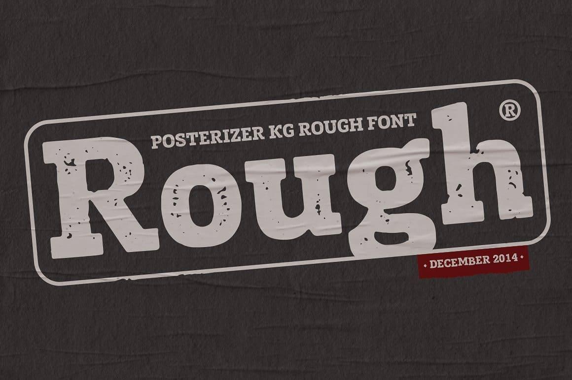 Download Posterizer KG Rough font (typeface)