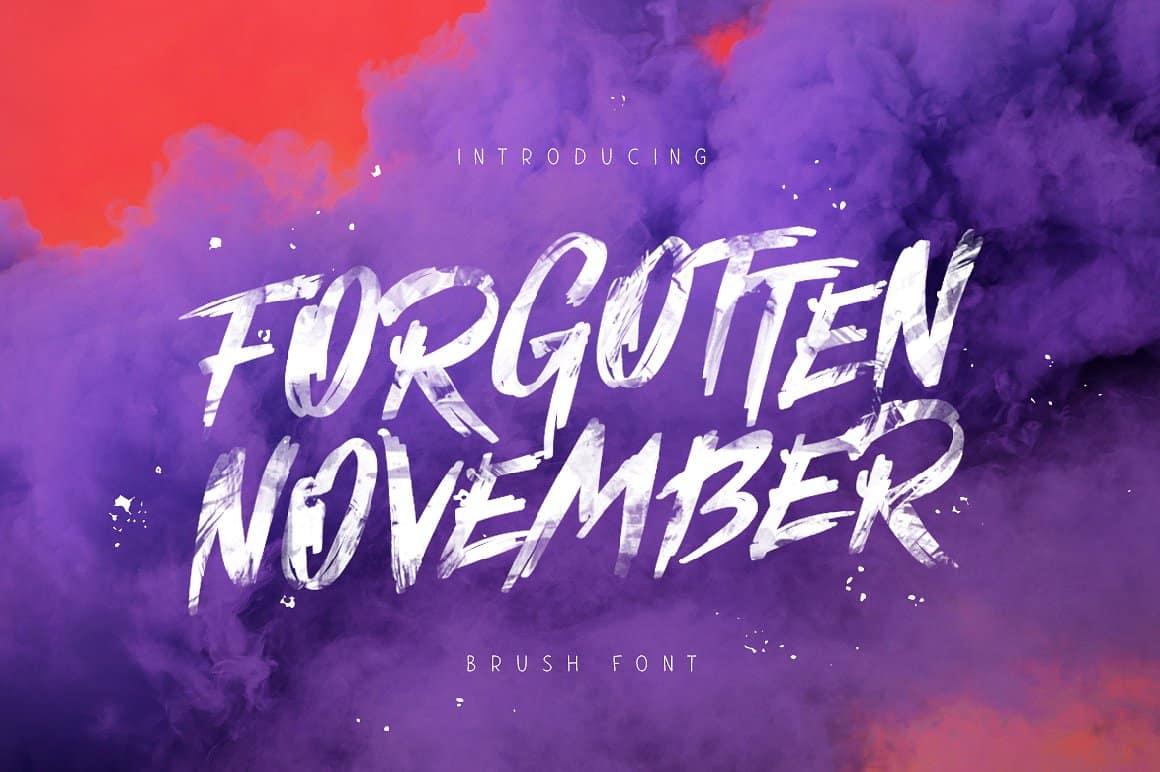Download Forgotten November font (typeface)