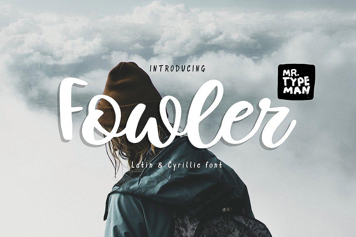 Download Fowler Handwritten Script font (typeface)
