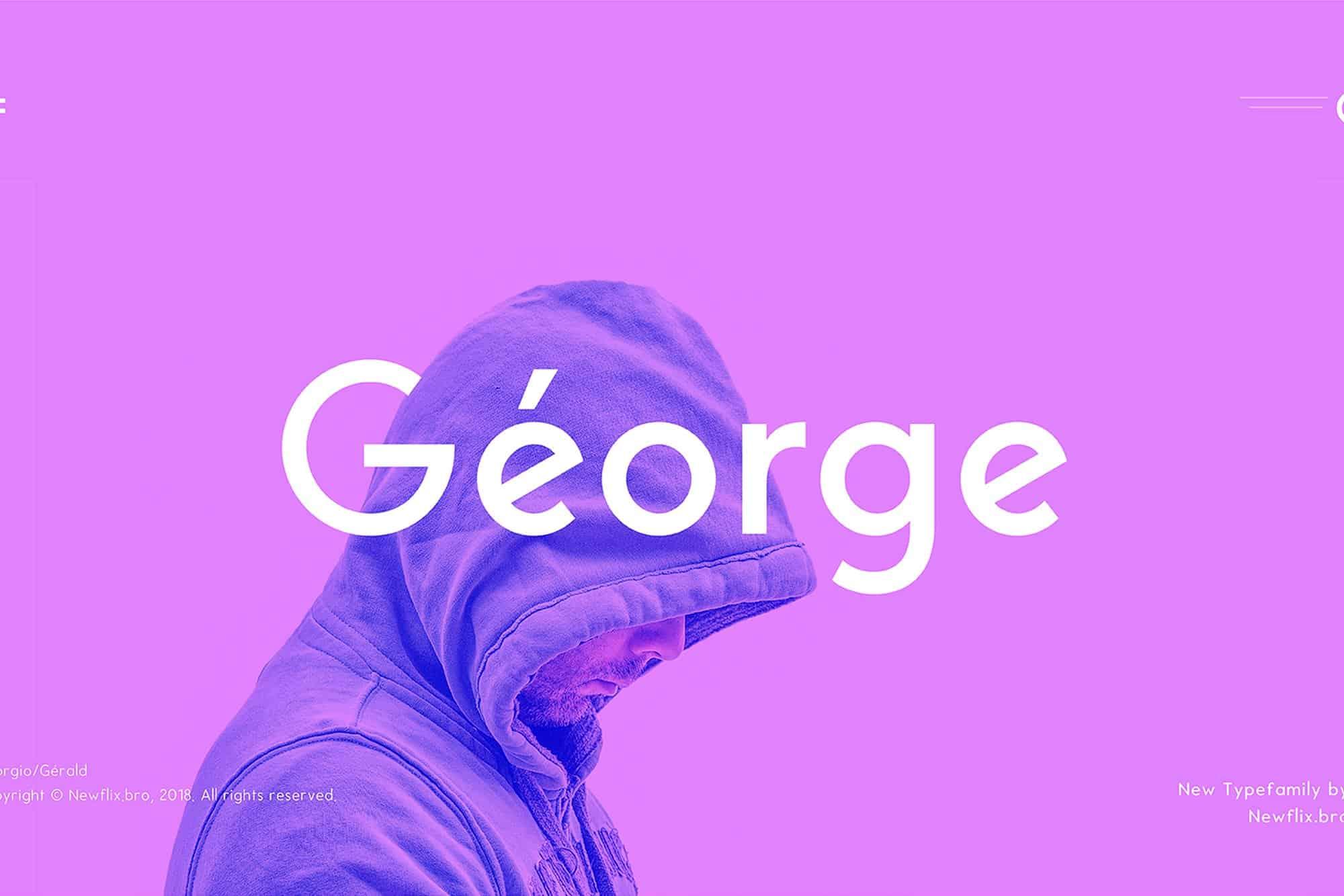 Download George Sans Geometric font (typeface)