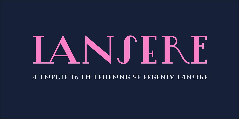 Download Lansere font (typeface)