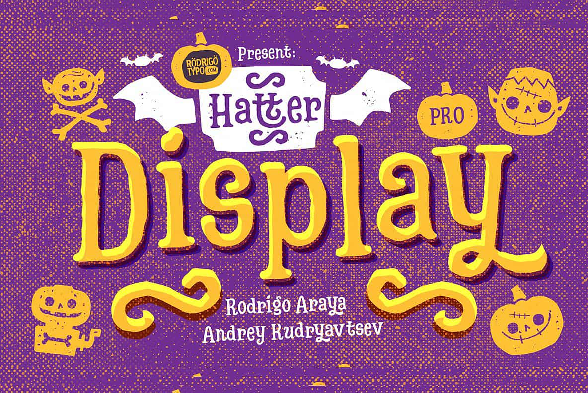Download Hatter Display Pro-All Bundle font (typeface)