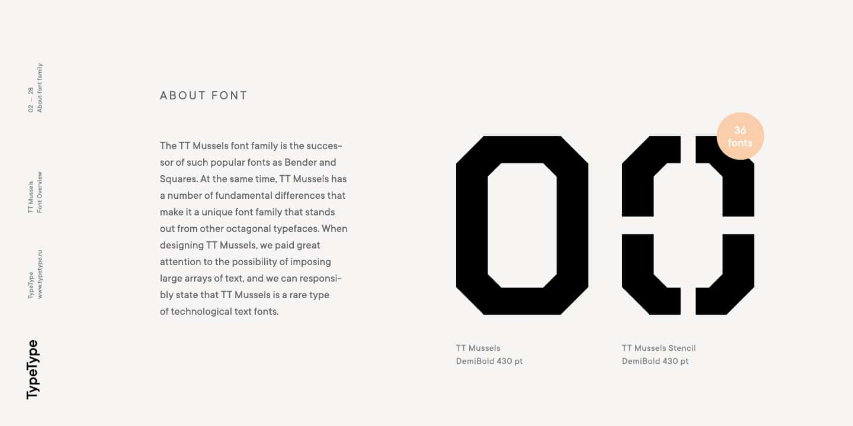 Download TT Mussels font (typeface)