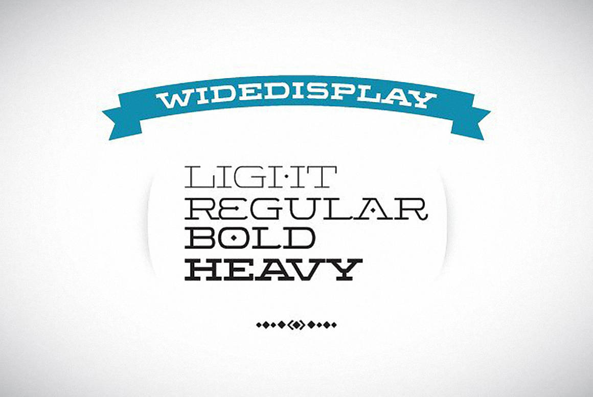 Download Wide Display Complete font (typeface)