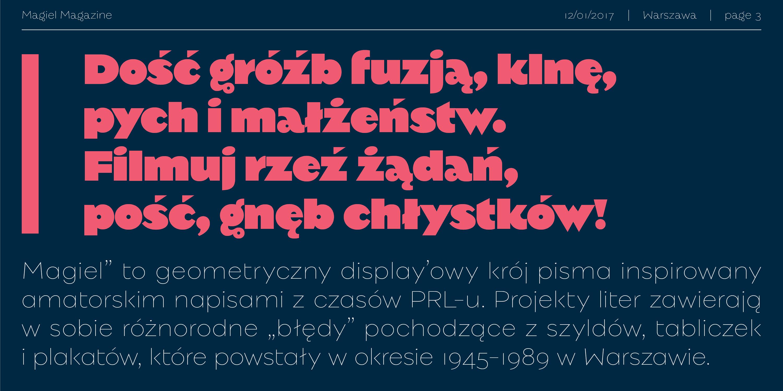 Download Magiel Pro font (typeface)