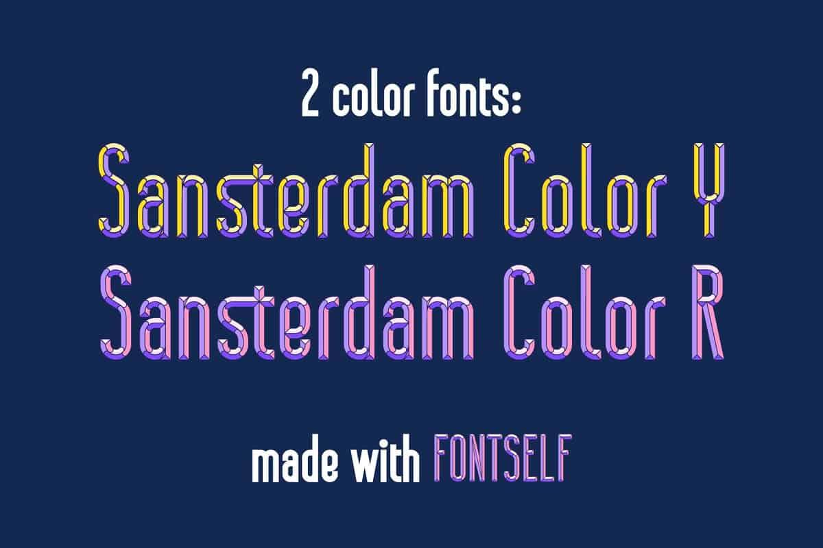 Download Sansterdam Color font (typeface)