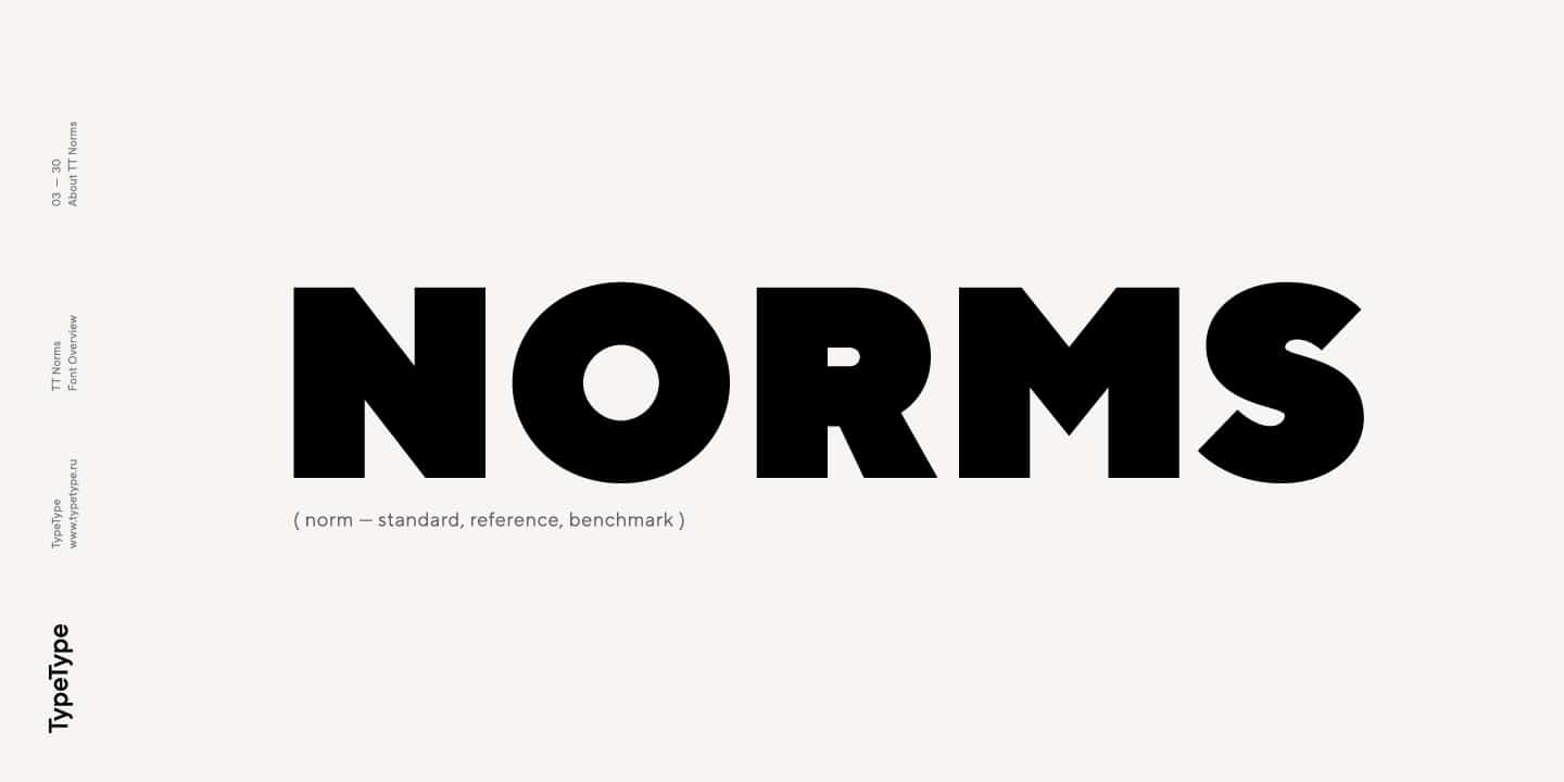 Download TT Norms font (typeface)