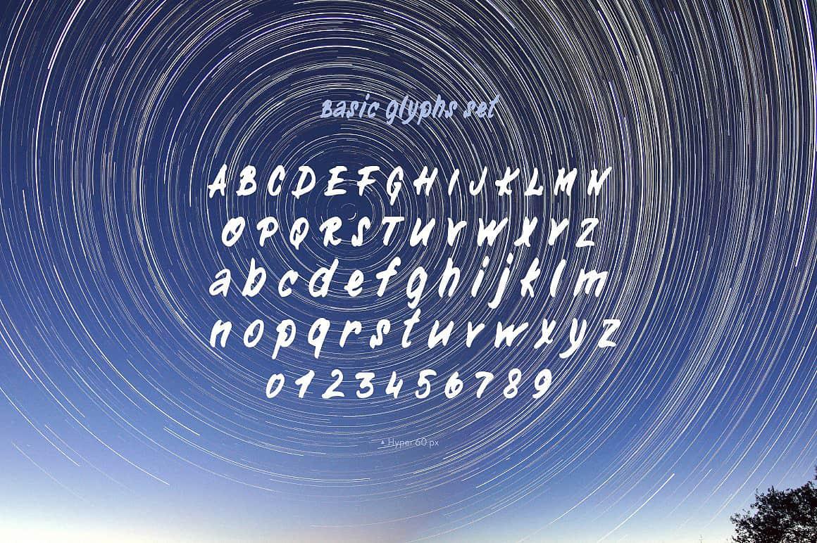 Download Hyper (handwritten) font (typeface)