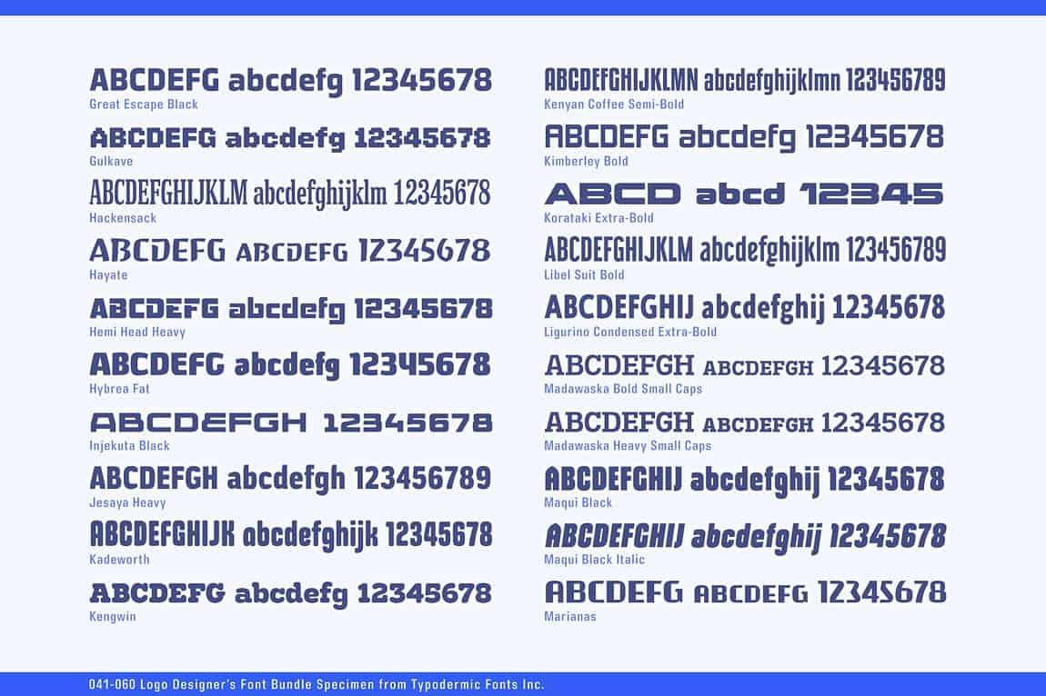 Download Logo Designer's Bundle font (typeface)