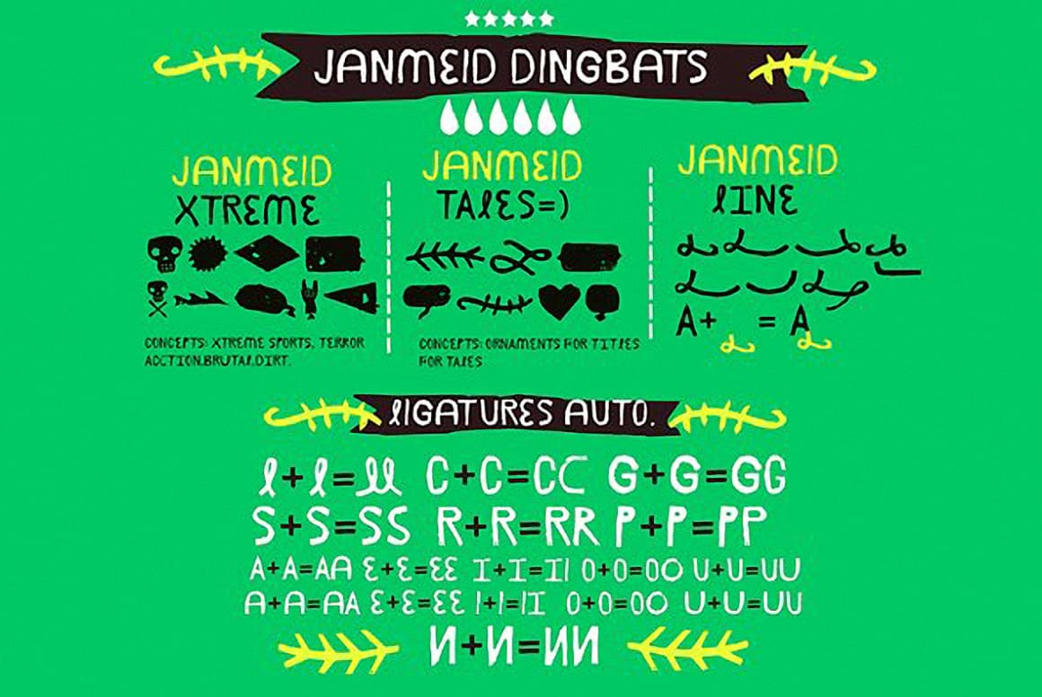Download Janmeid (Greek, Cyrillic) font (typeface)