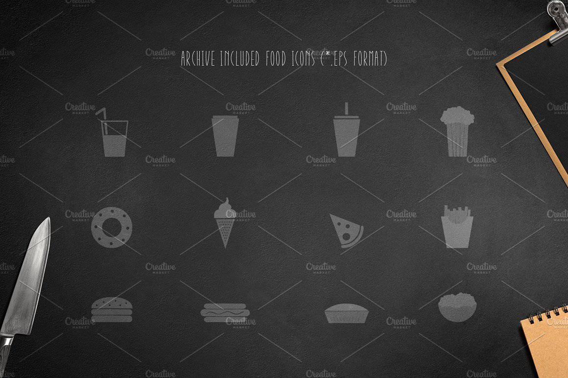 Download Montclar (Food Icons) font (typeface)