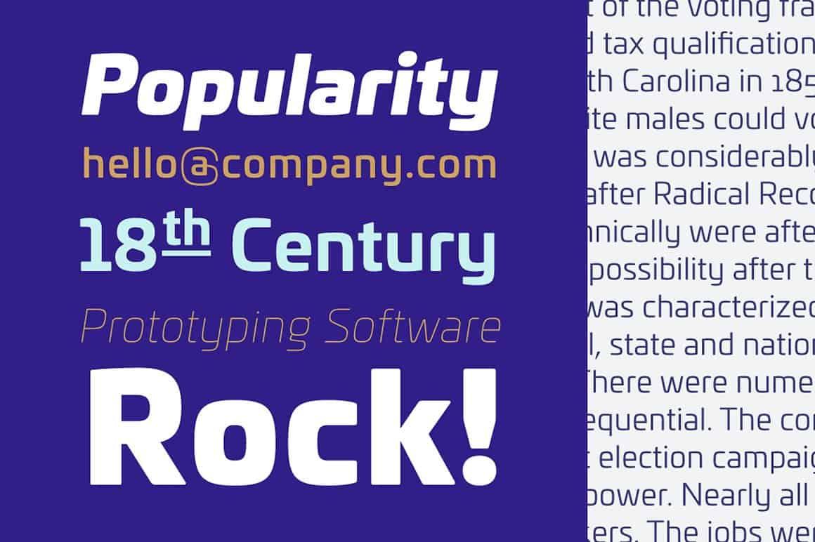 Download Univia Pro font (typeface)