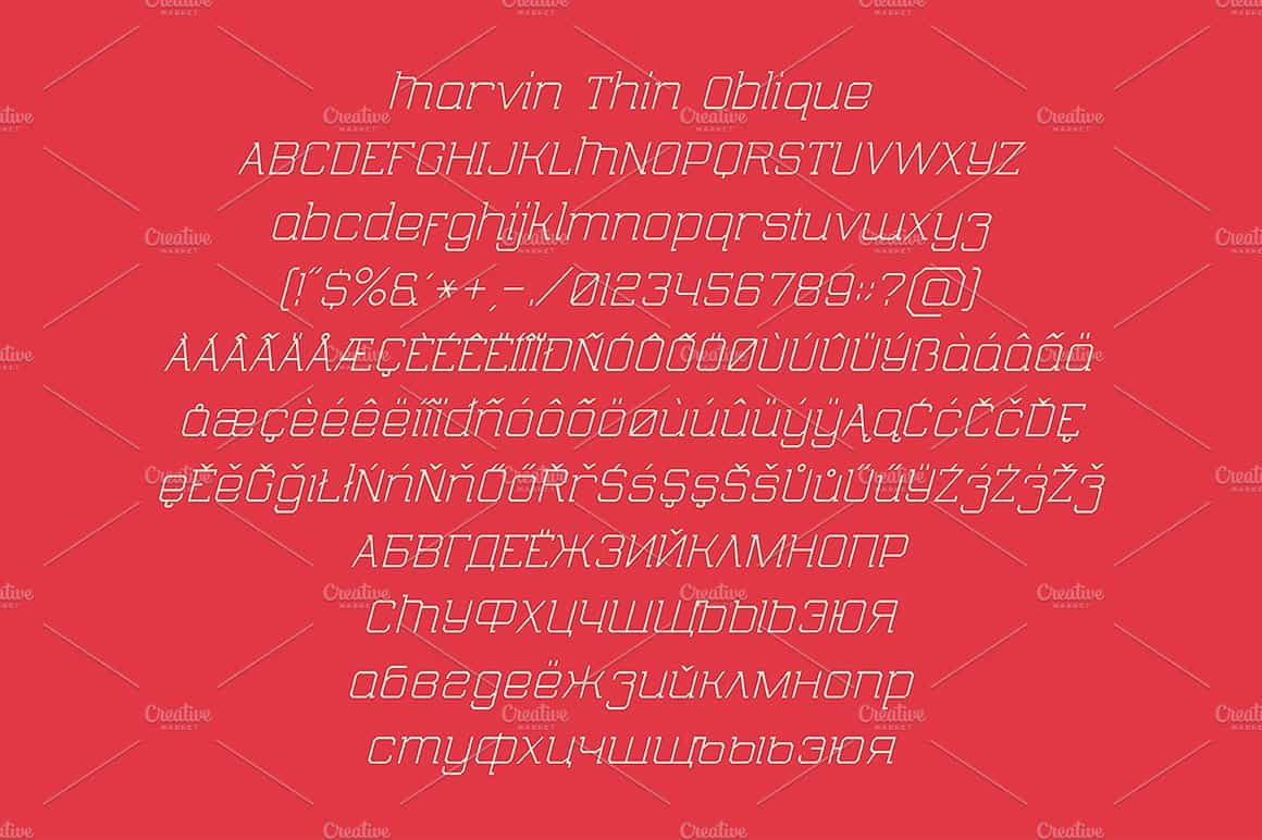 Download Marvin Thin font (typeface)