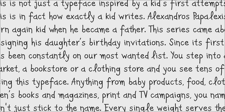 Download PF Kids Pro font (typeface)