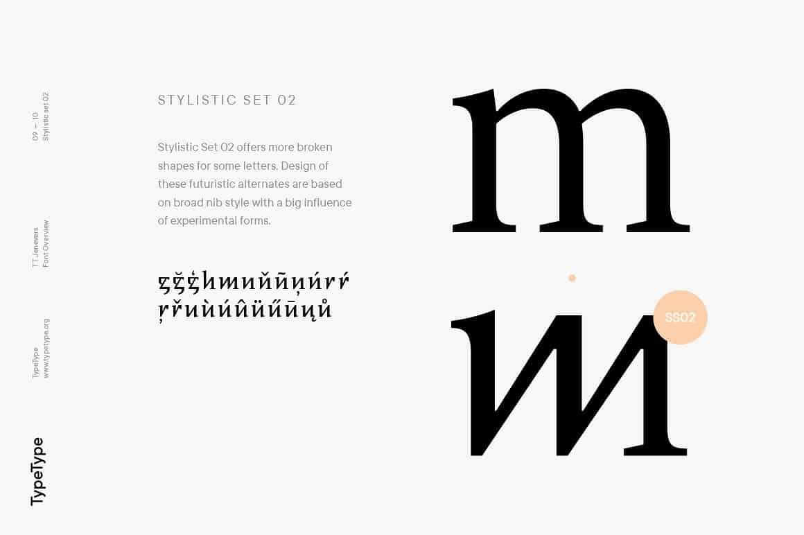 Download TT Jenevers font (typeface)