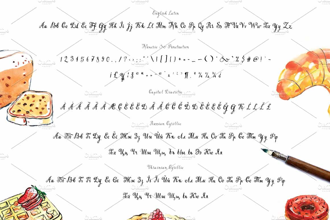 Download Handwritten tapeface Bakery font (typeface)